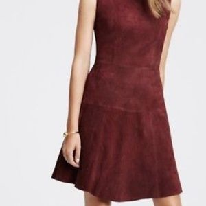 Ann Taylor 100% leather/suede Dress size 18